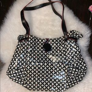 Vera Bradley Frill Black and White Purse